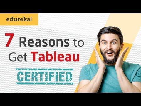 7 Reasons To Get Tableau Certified | Tableau Certification I Tableau Training | Edureka