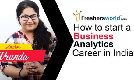 How to start a Business Analytics Career in India ? – Skills required, Pay scale, Job opportunities