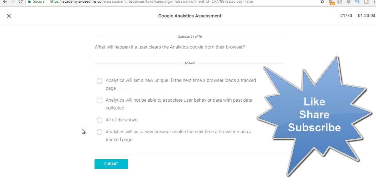 Google Analytics Exam Answers June 2018 – 100% Correct