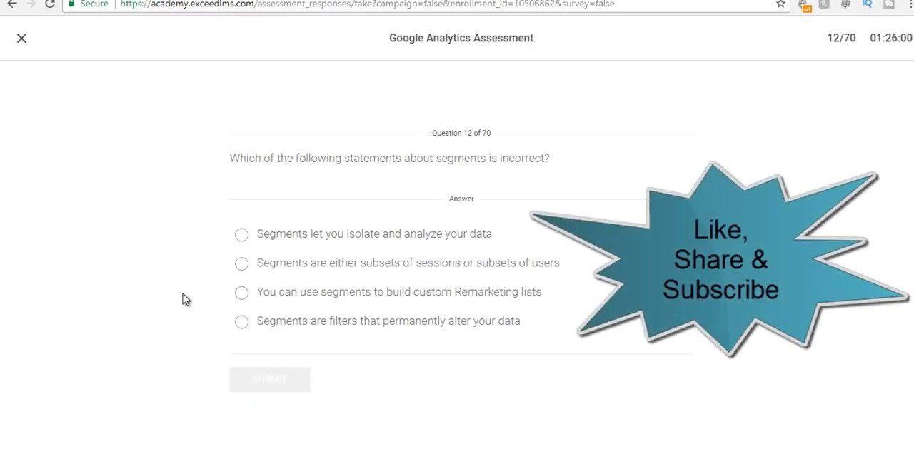 Google Analytics Exam Answers March 2018 – 100% Correct