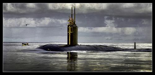 USS Scranton SSN 669 3 piece composite