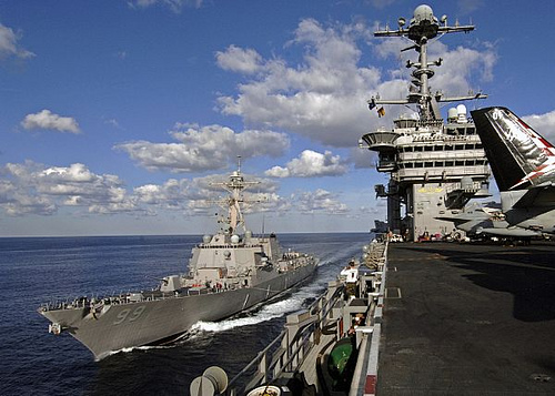 USS Farragut and USS George Washington
