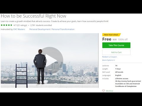 How to be Successful Right Now