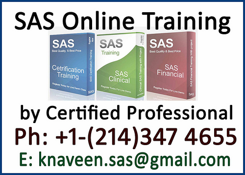 sas certification training by Domain Expert
