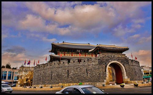 DSC_7aa621strtoppome The Paldalmun Gate of Hwaeong Fortress suwon city korea