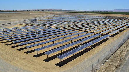 Solar panel array at Coalinga State Hospital. Photo courtesy Calif. Dept. of State Hospitals.