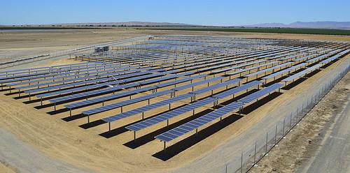 Solar panel array at Coalinga State Hospital. Photo courtesy Calif. Dept. of State Hospitals.