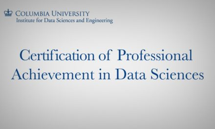 Certification of Professional Achievement in Data Sciences
