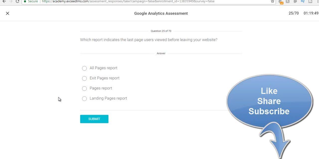 Google Analytics Exam Answers May 2018 – 100% Correct