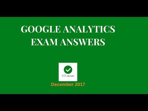 Google Analytics Certification Exam Answers 70 of 70 December 2017