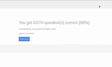 Google Analytics Certification Exam  August 2016