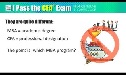 MBA vs CFA: is Finance Degree better than Certification?