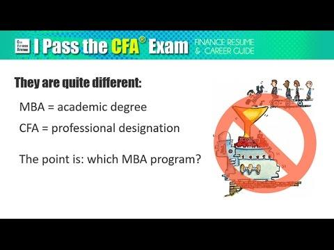 MBA vs CFA: is Finance Degree better than Certification?