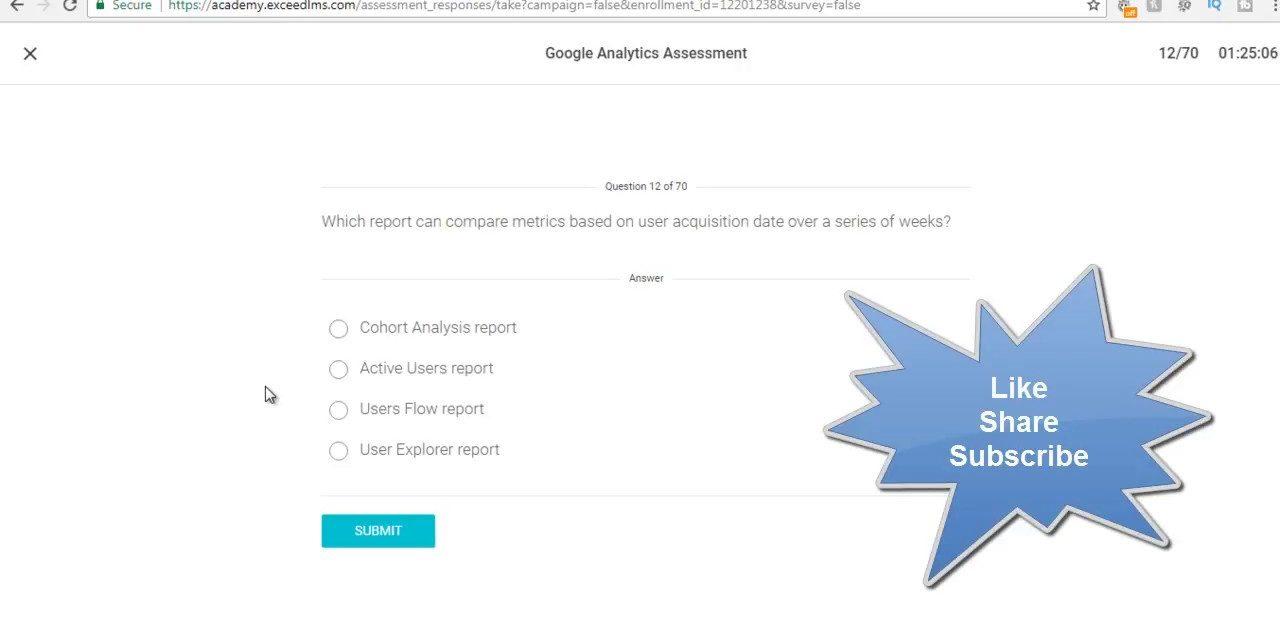 Google Analytics Exam Answers April 2018 – 100% Correct