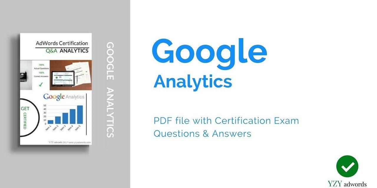 Google Analytics Certification Answers – PDF file
