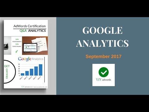 Latest Google Analytics Certification Exam Answers  100% correct  September 2017