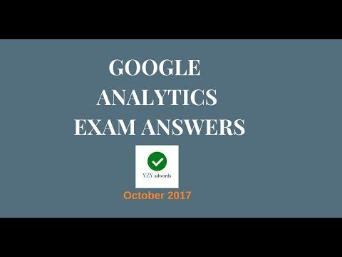 Google Analytics Individual Qualification Exam Answers October 2017 100% correct