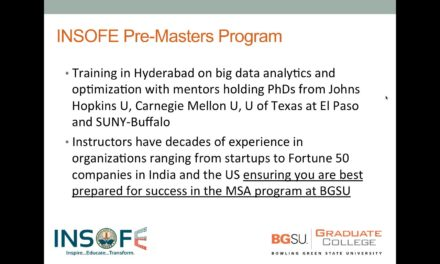 INSOFE & Bowling Green State University – Webinar – Masters in Analytics in USA