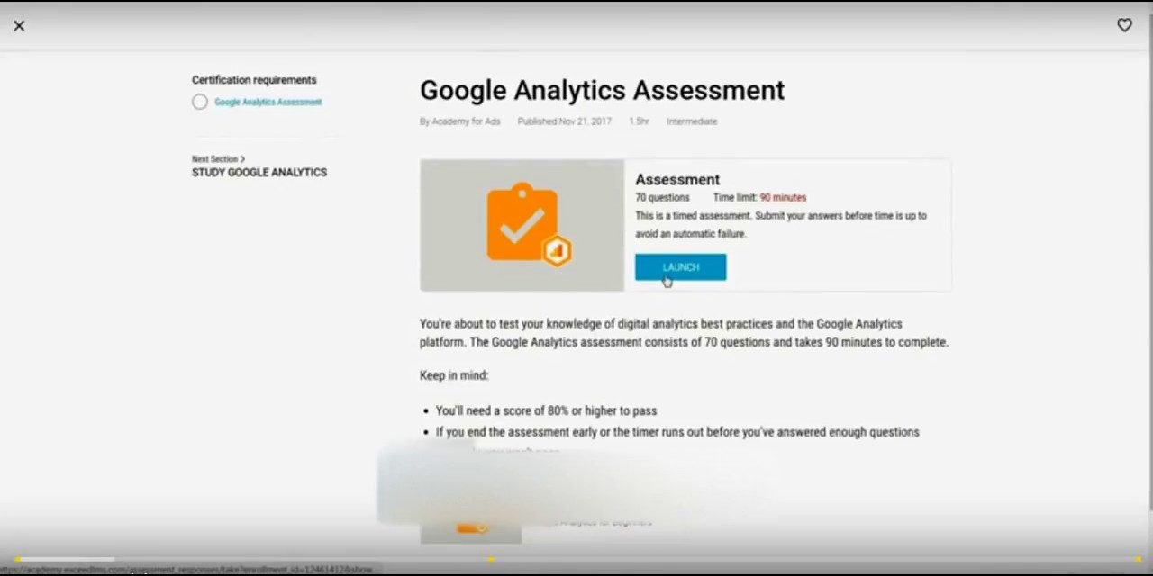 Latest Google Analytics Exam Q&A 2018 April- 100% Correct