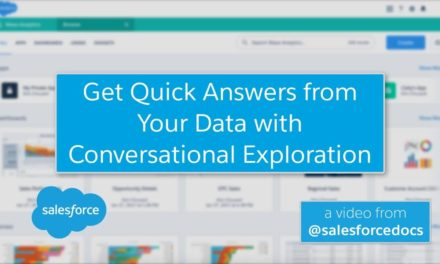 Get Quick Answers about Your Einstein Analytics Data using Conversational Exploration