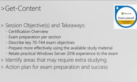 Cert Exam Prep: Exam 70-744: Securing Windows Server 2016  – BRK3177