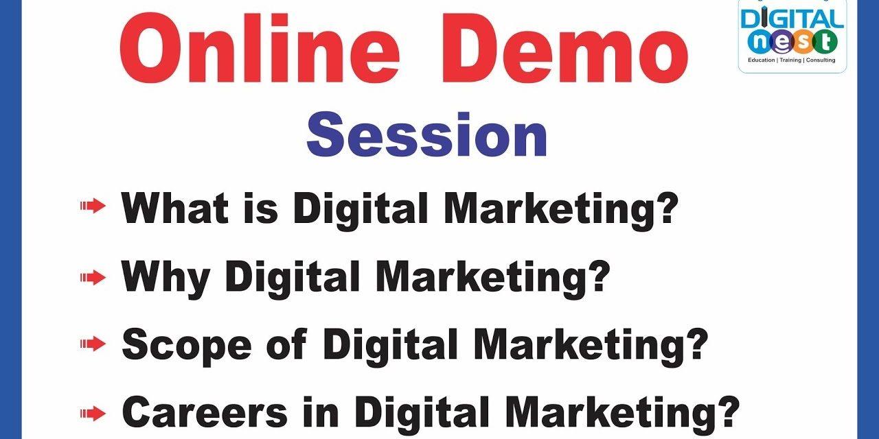 Digital Marketing Course Online training Demo Tutorial   Digital nest