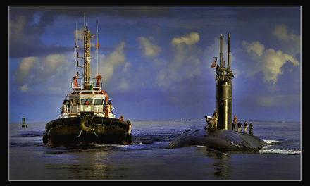 USS Scranton Transfer off Diego Garcia
