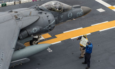 USS Bonhomme Richard conducts flight operations.