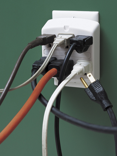 Holiday Fire Safety – Overloaded electrical outlet