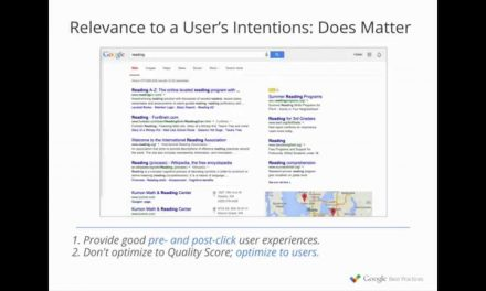 Settling the (Quality) Score – Google Best Practices